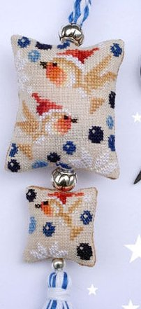 Barbara Ana Designs Christmas Robins Fob