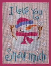 Barbara Ana Designs I Love You Snow Much