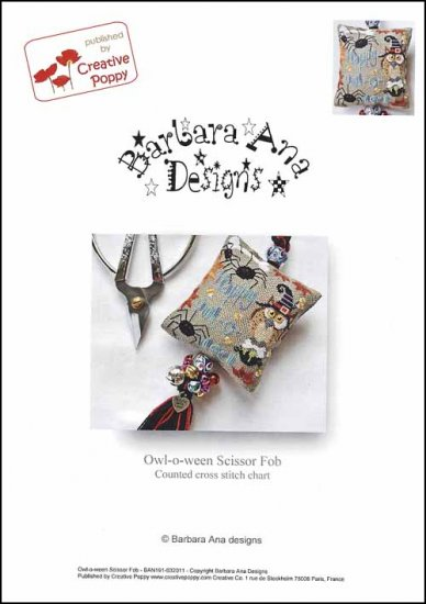 Barbara Ana Designs Owl-o-ween Scissor Fob
