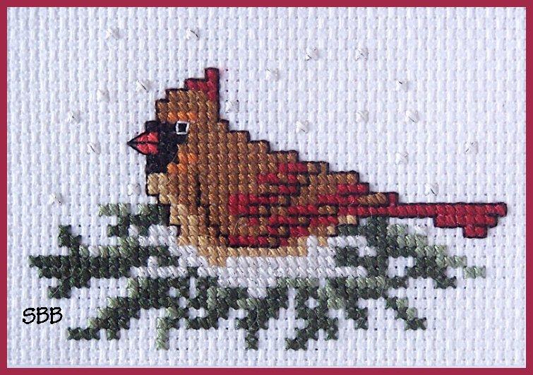 Becca Jean Designs Female Cardinal