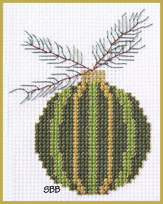 Becca Jean Designs Green Ornament