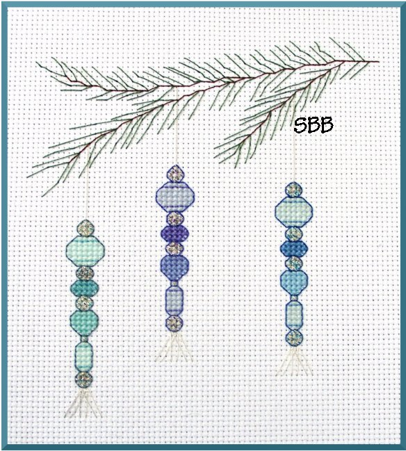Becca Jean Designs Icicle Ornament Trio