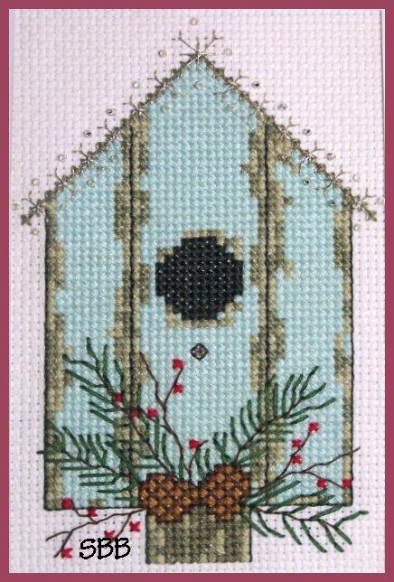 Becca Jean Designs Seasonal Birdhouse Series ~ Winter Birdhouse