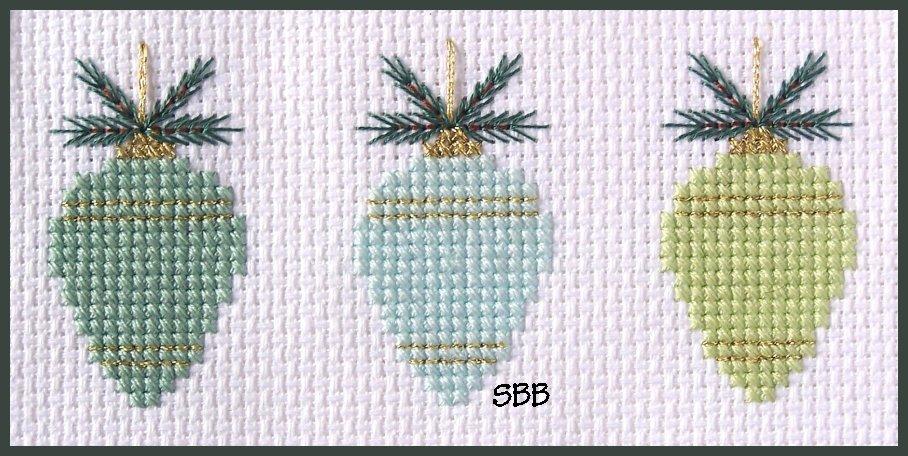 Becca Jean Designs Teardrop Ornament Trio1