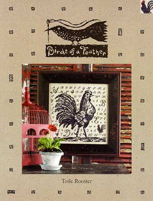 Birds of a Feather Toile Rooster