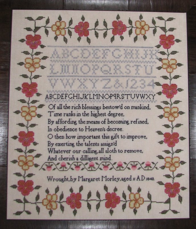Black Branch Needlework Margaret Morley Sampler