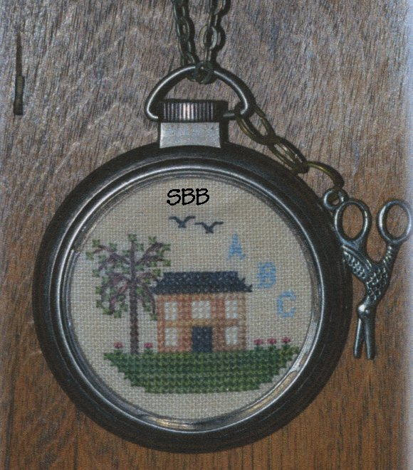 Black Branch Needlework Limited Edition Colonial Sampler Watch/Necklace Kit