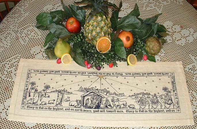 Blackberry Lane Designs The Nativity Story Runner Table Topper