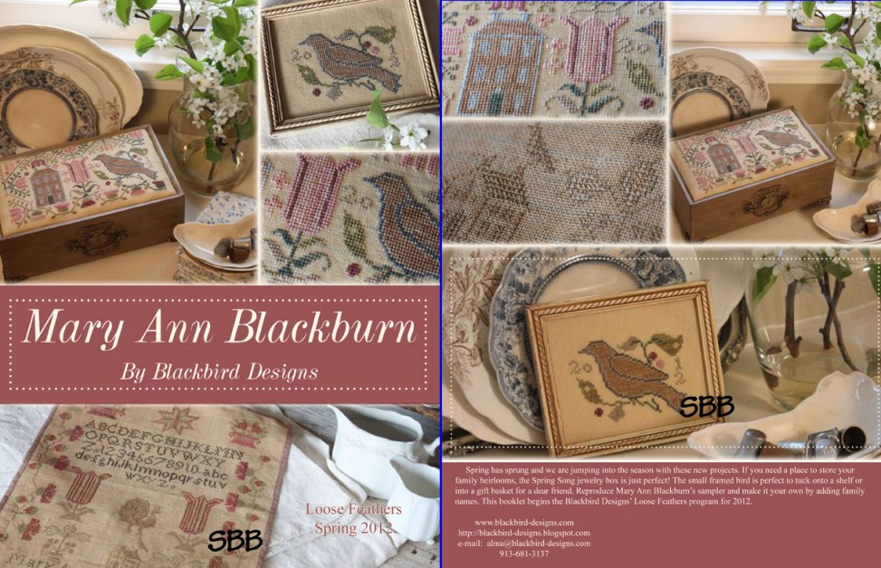 Blackbird Designs Loose Feathers ~ 2012 Series Part #1 of 4 ~ Mary Ann Blackburn
