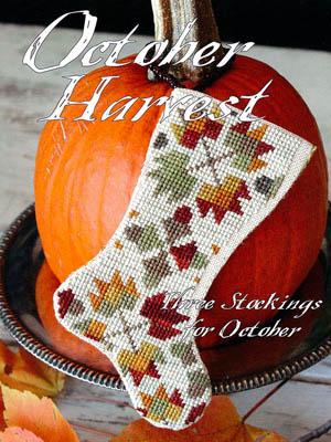 Blackbird Designs Three Stockings For October ~ October Harvest