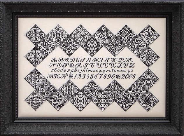 Blue Ribbon Designs Black Velvet Inscription Sampler
