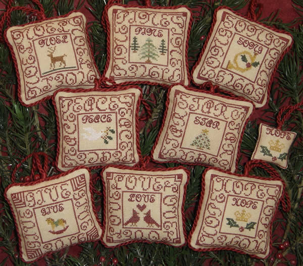 Blue Ribbon Designs Red Letter Ornaments