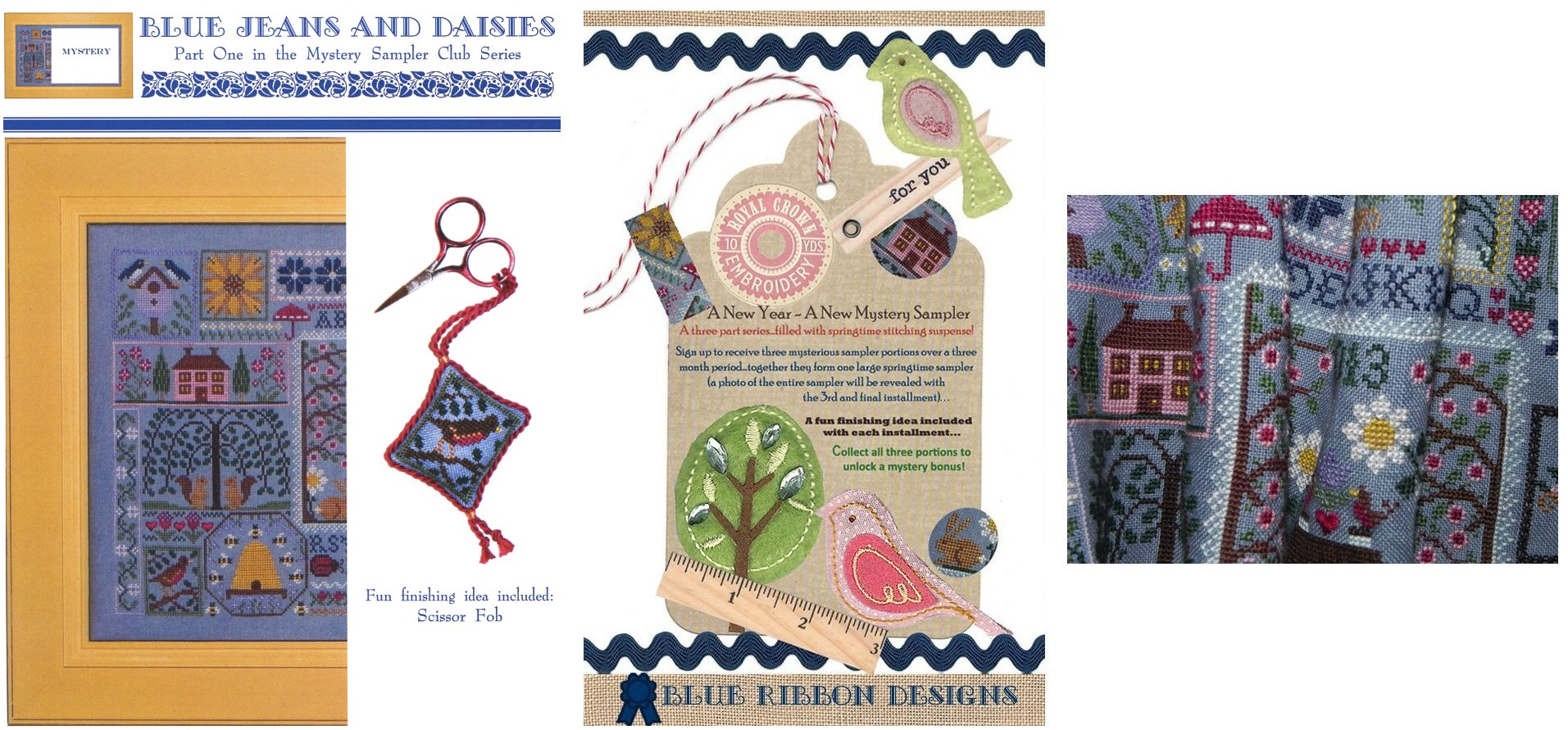 Blue Ribbon Designs Blue Jeans and Daisies ~ Mystery Club Part One of Three