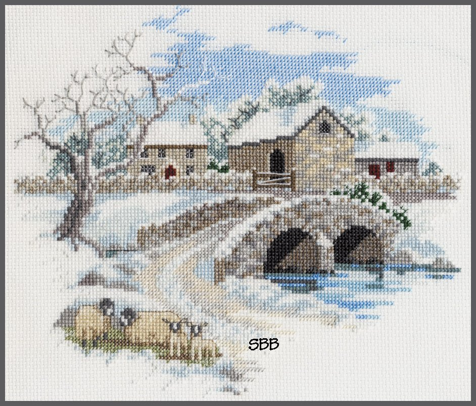 Bothy Threads Kits BTDWCON06 Countryside Winterbourne Farm ~ Derwentwater Designs ~ 16ct Ivory Aida