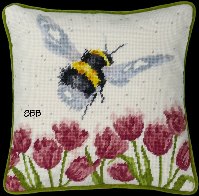 Bothy Threads Kits BTTHD41 Flight Of The Bumble Bee ~ Hannah Dale ~ 10ct Printed Canvas