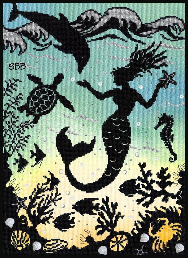 Bothy Threads Kits BTX1P Enchanted Mermaid Cove ~ 14ct Printed Aida