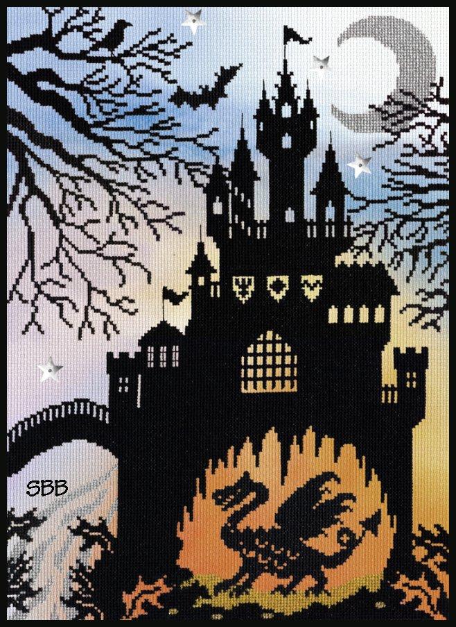 Bothy Threads Kits BTX2P Enchanted Dragon Castle ~ 14ct Printed Aida