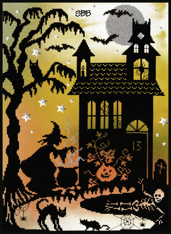 Bothy Threads Kits BTX4P Enchanted Pumpkin House ~ 14ct Printed Aida