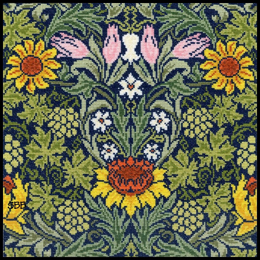 Bothy Threads Kits BTXAC4 Sunflowers ~ William Morris ~ 14ct Cream Aida