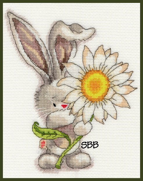 Bothy Threads Kits BTXBB1 Daisy ~ Bebunni ~ 14ct White Aida