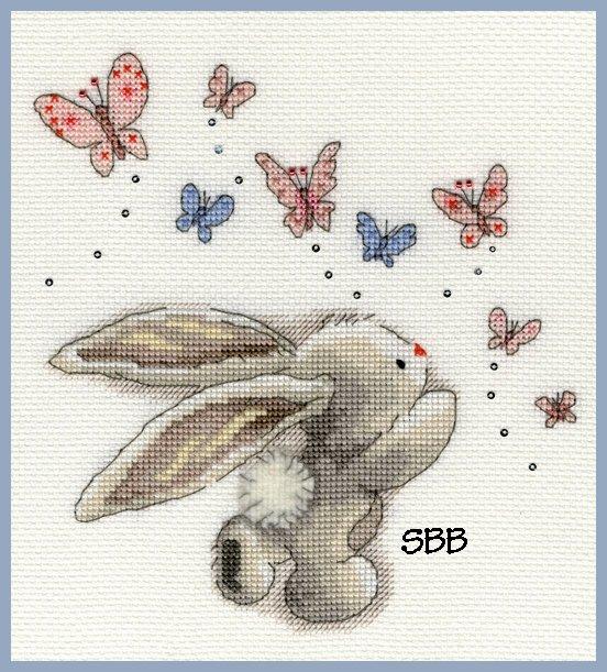 Bothy Threads Kits BTXBB3 Butterflies ~ Bebunni ~ 14ct White Aida