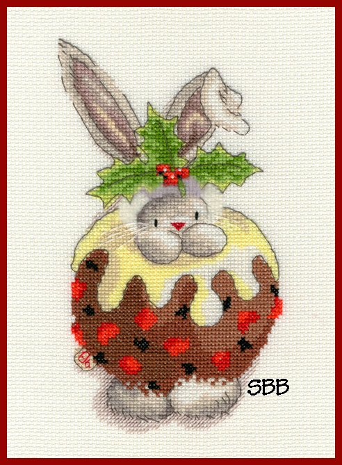 Bothy Threads Kits BTXBB5 Christmas Pudding ~ Bebunni ~ 14ct White Aida
