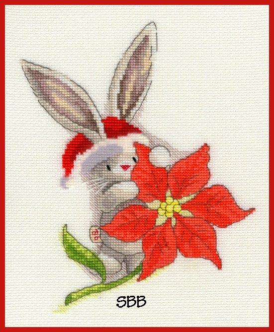 Bothy Threads Kits BTXBB6 Poinsettia ~ Bebunni ~ 14ct White Aida