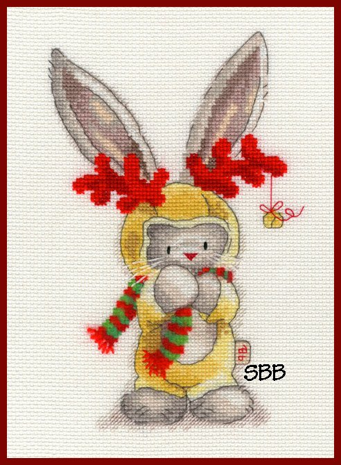 Bothy Threads Kits BTXBB7 Rudolf ~ Bebunni ~ 14ct White Aida