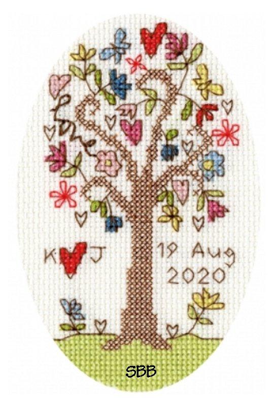 Bothy Threads Kits BTXGC2 Greeting Card Collection Sweet Tree ~ Kim Anderson ~ 14ct Antique White Aida