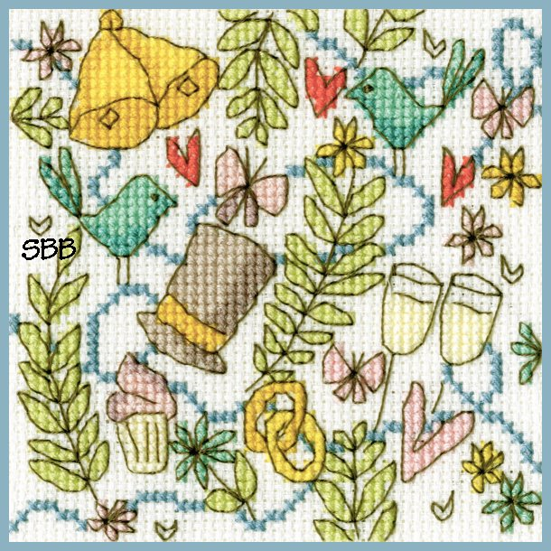 Bothy Threads Kits BTXGC8 Greeting Card Collection Top Hat ~ Rebecca Dennison ~ 14ct Antique White Aida