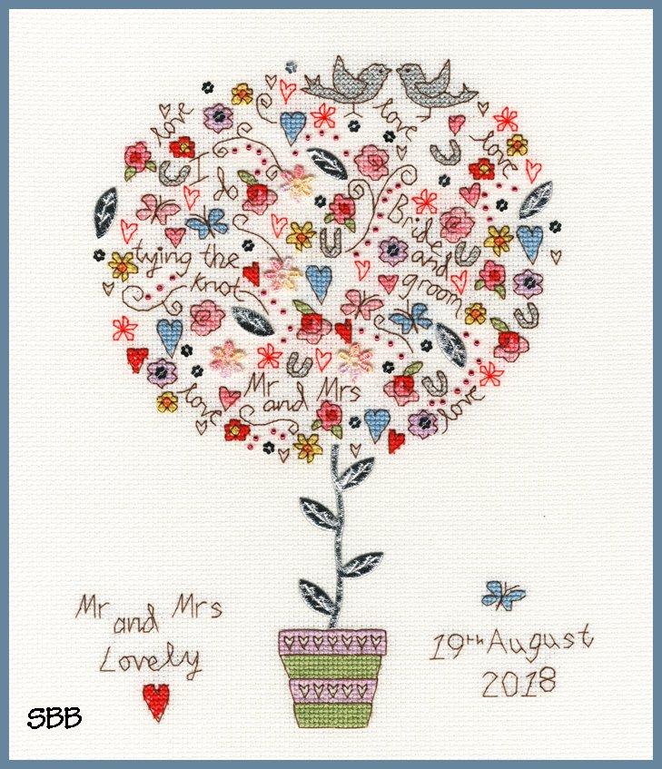 Bothy Threads Kits BTXKA16 Love Vows ~ Kim Anderson ~14ct White Aida