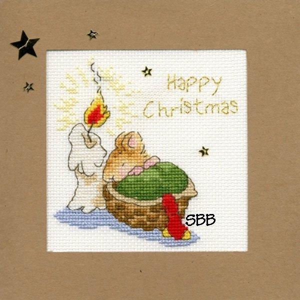 Bothy Threads Kits BTXMA19 Christmas Cards First Christmas ~ Margaret Sherry ~ 16ct White Aida