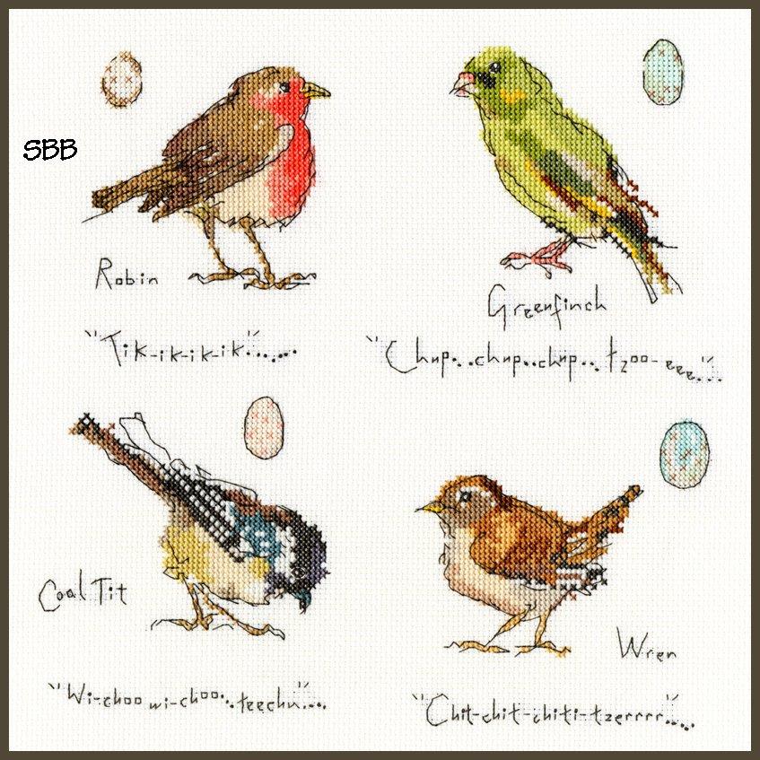 Bothy Threads Kits BTXMF1 Garden Birds 1 ~ Madeleine Floyd ~ 14ct White Aida