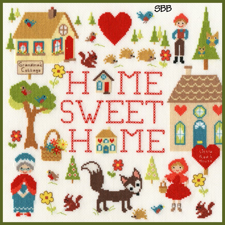 Bothy Threads Kits BTXMG1 Home Is Where The Heart Is ~ Michelle Grace ~ 14ct White Aida