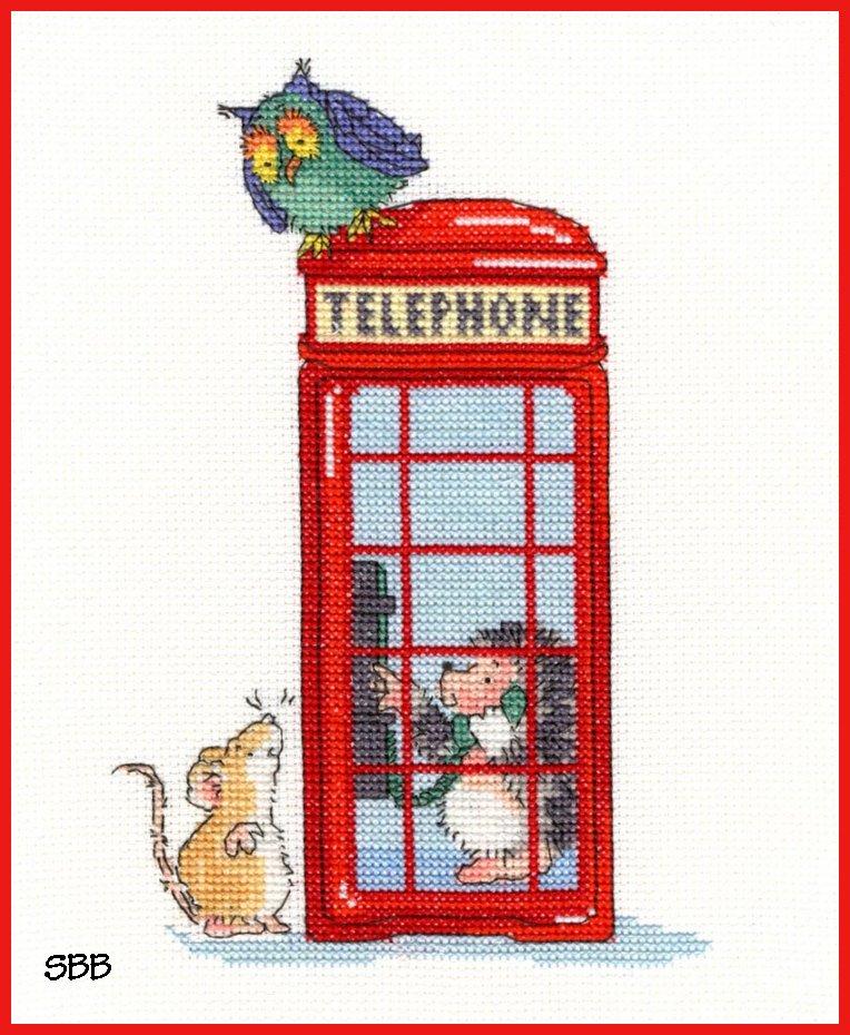 Bothy Threads Kits BTXMS9 London Calling ~ Margaret Sherry ~ 14ct White Aida