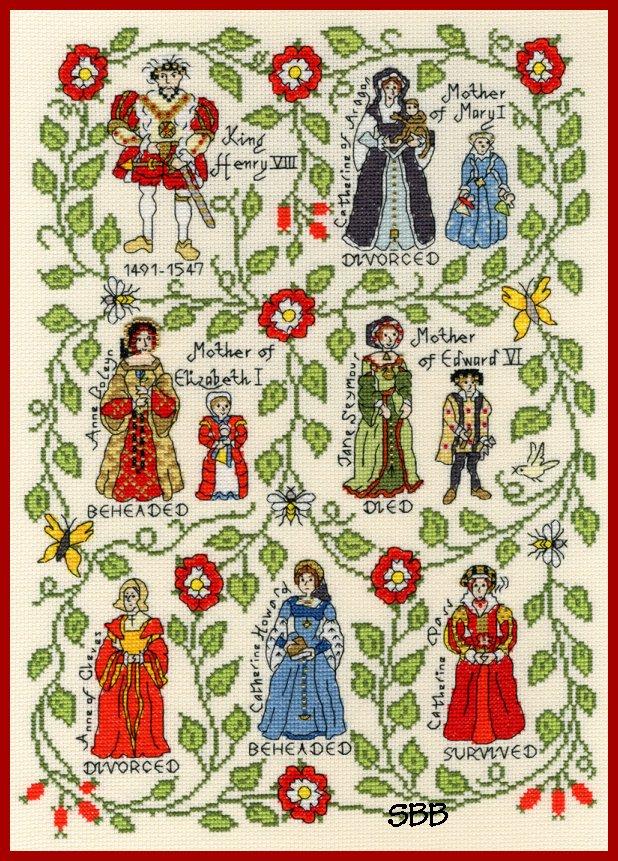 Bothy Threads Kits BTXPS7 Henry VIII ~ Pete Smith ~ 14ct Cream Aida