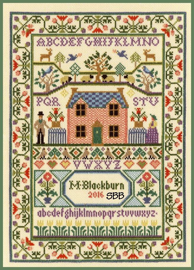 Bothy Threads Kits BTXS3 Country Cottage ~ Moira Blackburn ~ 16ct Parchment Aida