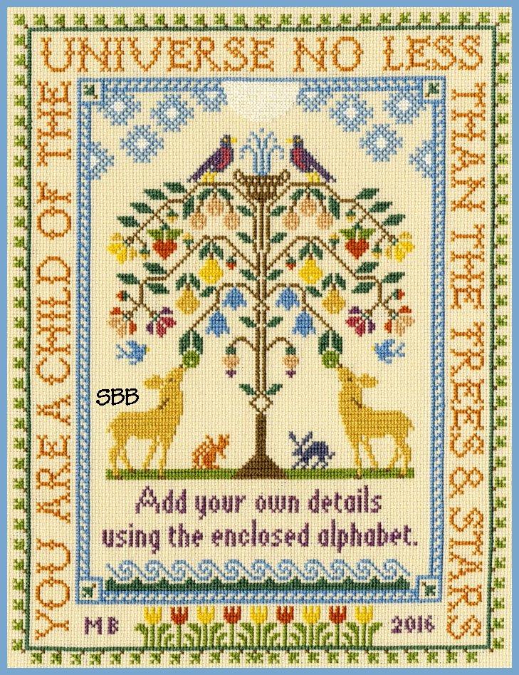 Bothy Threads Kits BTXS6 Tree Of Life ~ Moira Blackburn ~ 16ct Parchment Aida