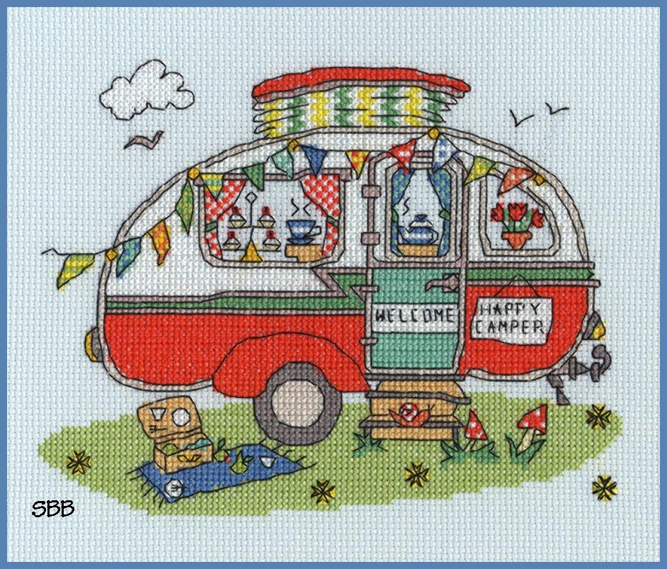 Bothy Threads Kits BTXSD8 Sew Dinky Caravan ~ Amanda Loverseed ~ 14ct Aida