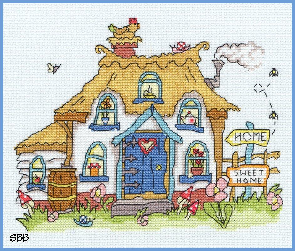 Bothy Threads Kits BTXSD9 Sew Dinky Cottage ~ Amanda Loverseed ~ 14ct Aida