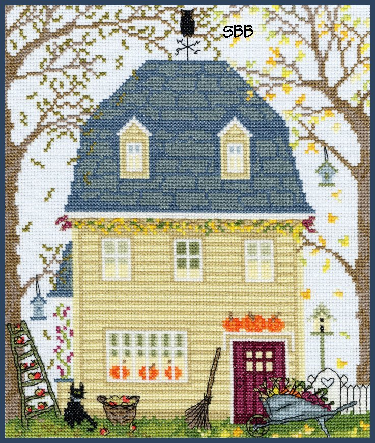 Bothy Threads Kits BTXSS3 New England Homes Fall ~ Sally Swannell ~ 14ct Aida