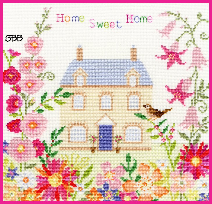 Bothy Threads Kits BTXSS5 Friends & Family Home Sweet Home ~ Sarah Summers ~ 14ct White Aida
