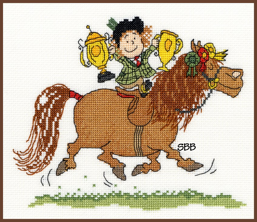 Bothy Threads Kits BTXT1 Trophies ~ Norman Thelwell ~ 14ct White Aida