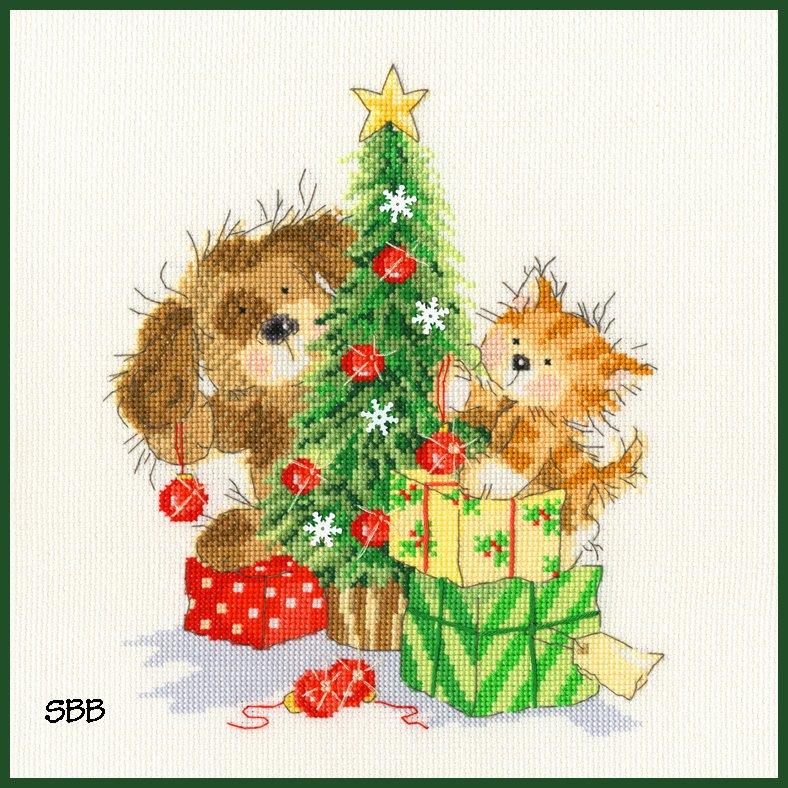 Bothy Threads Kits BTXX13 Decorating The Tree ~ Nicola Mason ~ 14ct White Aida
