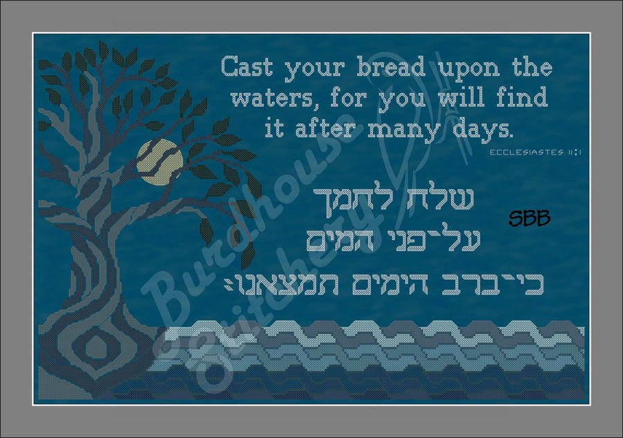Burdhouse Stitchery Cast Your Bread Upon The Waters