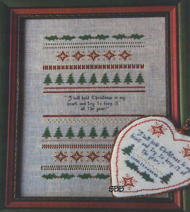 Remembering ByGone Stitches Christmas Heart