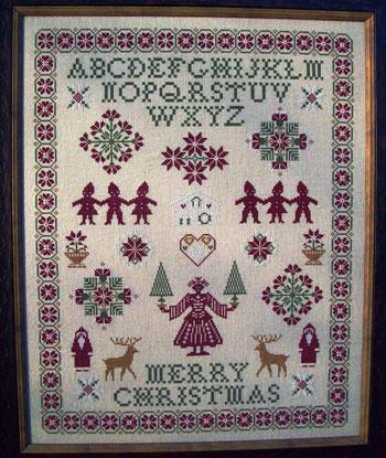 ByGone Stitches Christmas Sampler