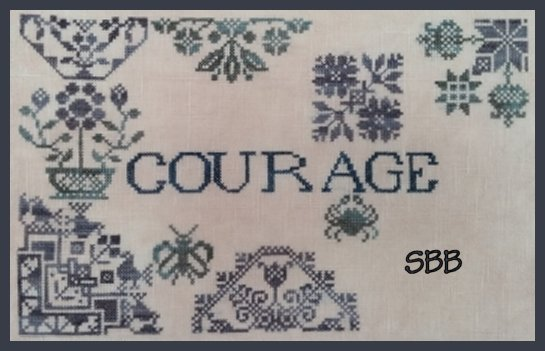 Remembering ByGone Stitches Quaker Patriotic ~ Courage