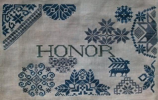 Remembering ByGone Stitches Quaker Patriotic ~ Honor