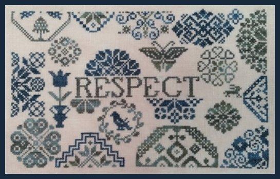 Remembering ByGone Stitches Quaker Patriotic ~ Respect